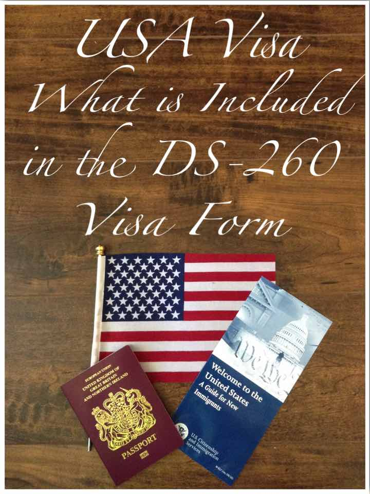 What Is Included In The Ds 260 Usa Visa Form Between England Iowa