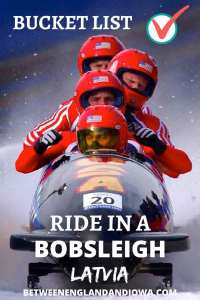 Bobsleigh in Latvia at the Sigulda Bobsleigh Track