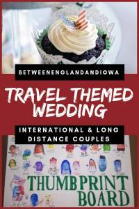 How to have a DIY Travel Themed Wedding as a long distance or international couple. Including unique wedding guestbook ideas