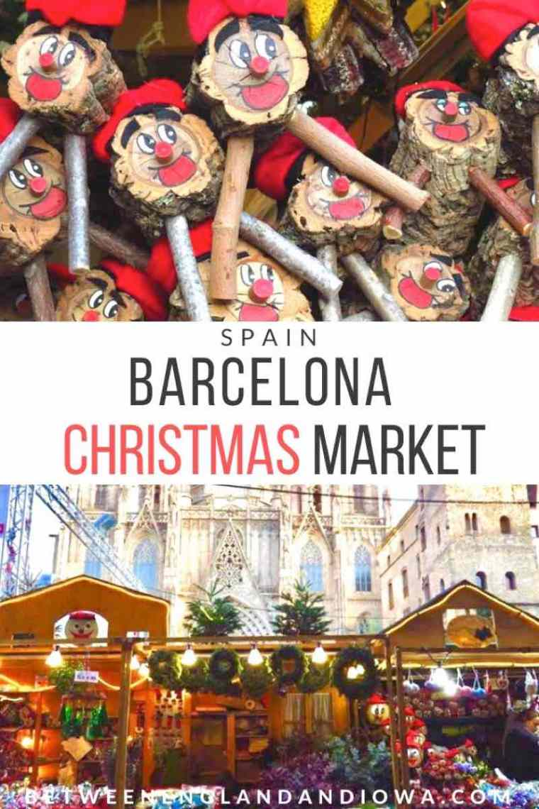 Barcelona Christmas Market. The Market of Saint Lucia at the Barcelona Cathedral