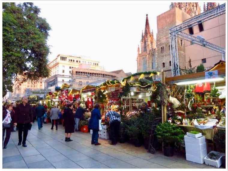 Barcelona Christmas Market. The Market of Saint Lucia