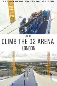 Up At The O2, walking over the O2 Arena London