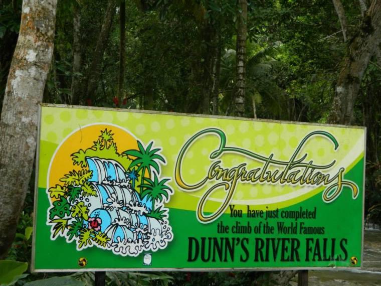 Dunns River Falls Finish Sign Jamaica