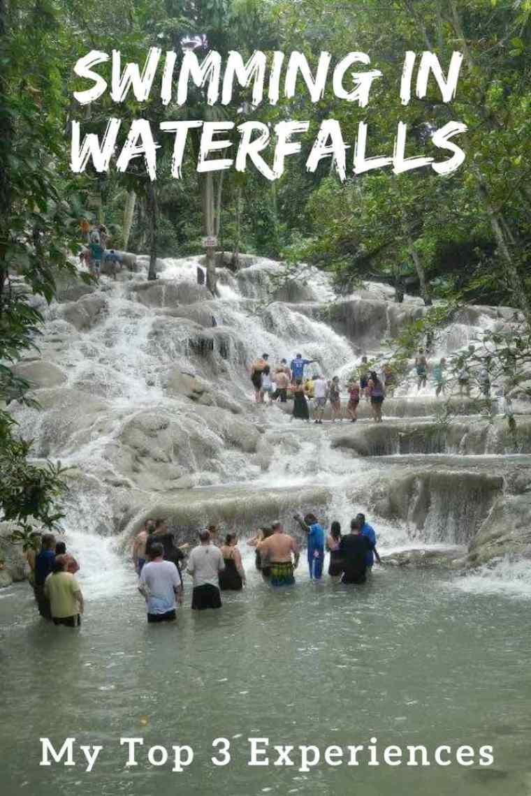 Swimming in Waterfalls Around The World.