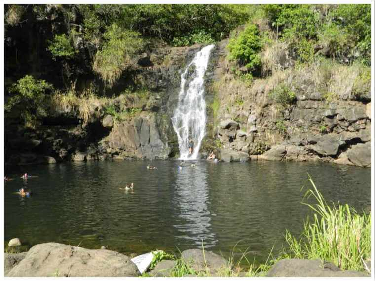 Waimea Falls Waterfalls in Oahu