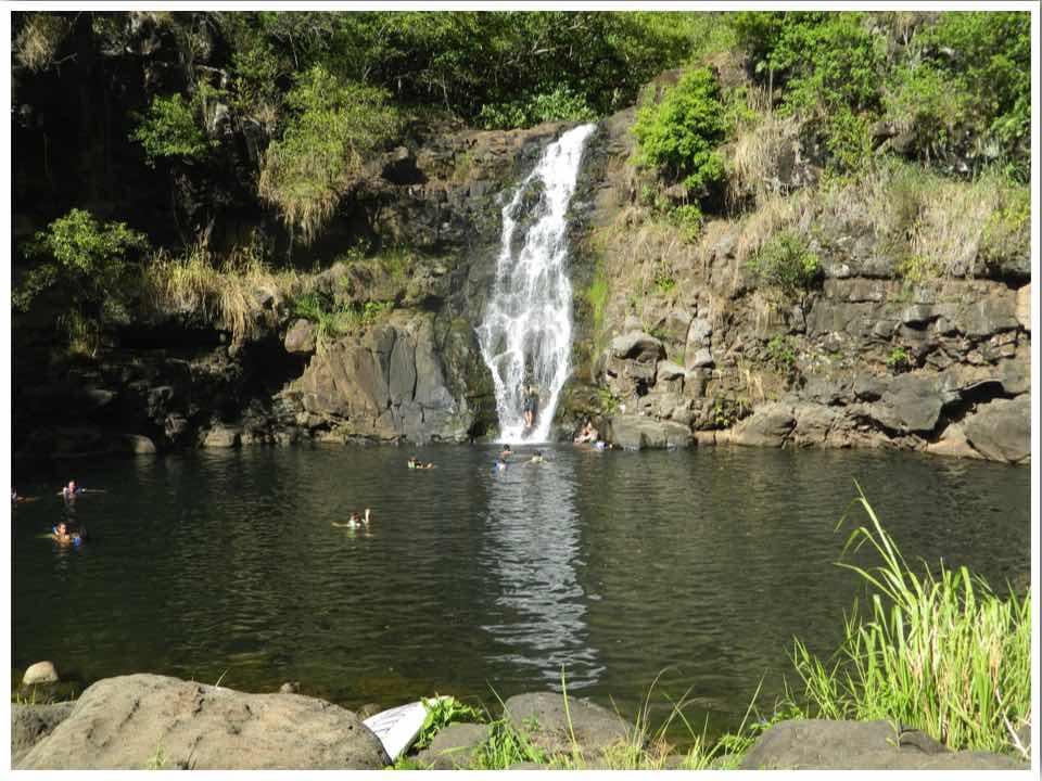 Waimea Falls Waterfalls in Oahu