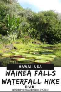 Waterfalls in Oahu. Waimea Falls waterfall hikes Oahu Hawaii