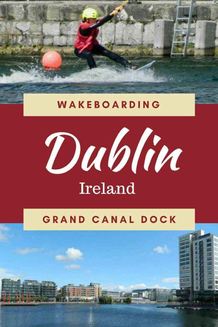 Wakeboarding at Dublin's Grand Canal Dock. Ireland's first cable wake park!