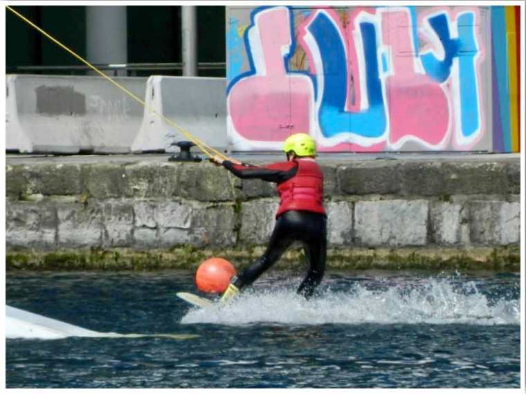 Wakeboarding at the Dublin Grand Canal Dock