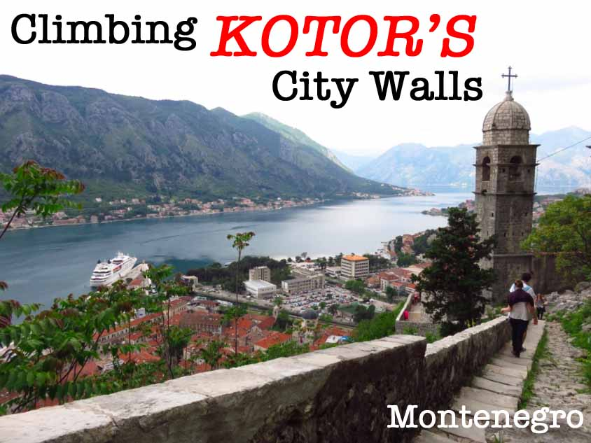 Climbing Kotor City Walls