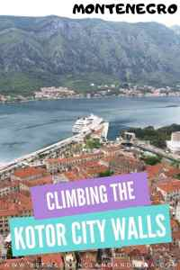 Kotor City Walls Walk Montenegro