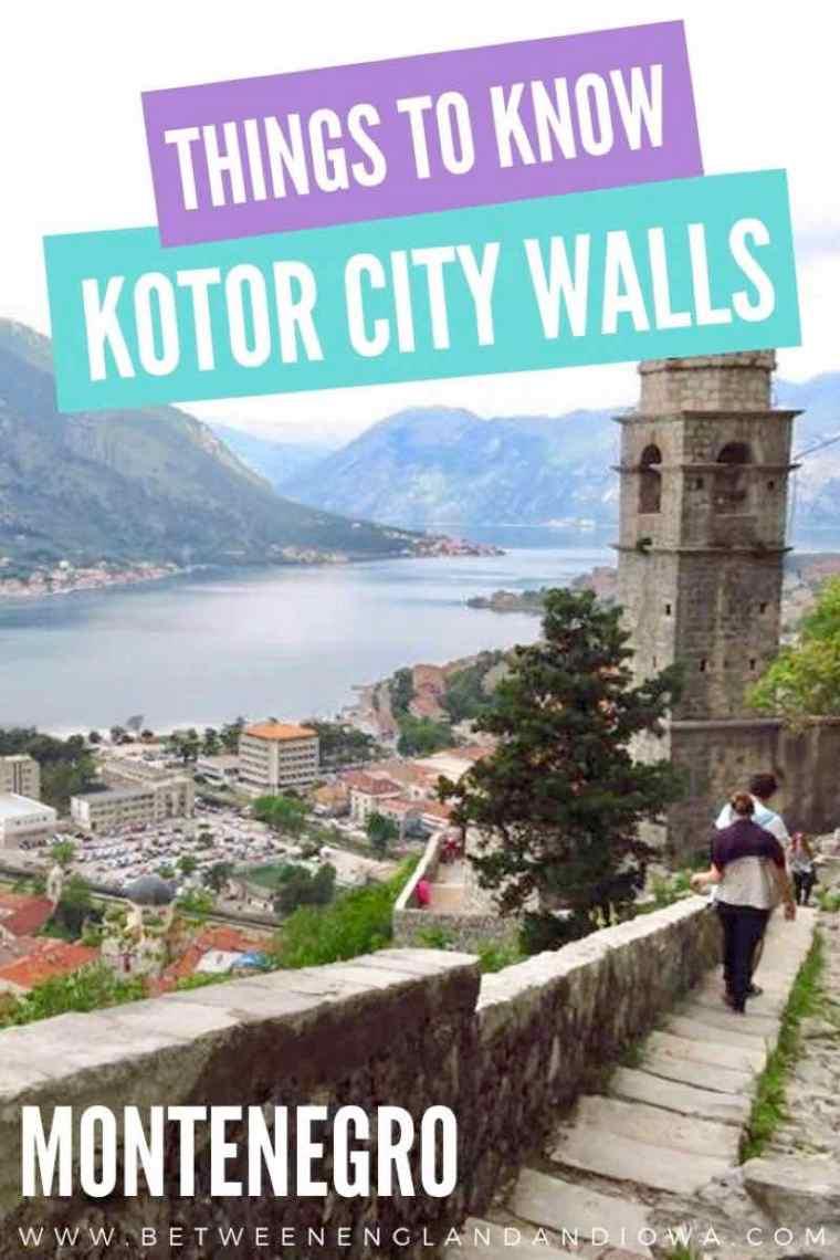 Kotor City Walls Walk Monten