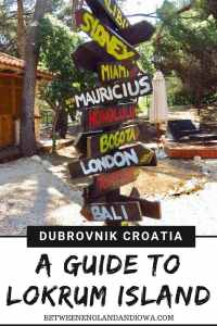 A complete guide to Lokrum Island, a day trip from Dubronik Croatia. Lokrum Island is also a Game of Throne filming location!