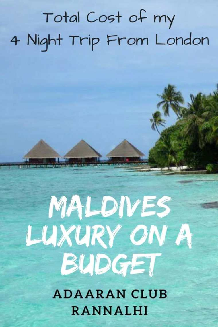 Adaaran Club Rannalhi Maldives. Total cost of my 4 night trip from London in an overwater bungalow. Cheap resorts in the Maldives
