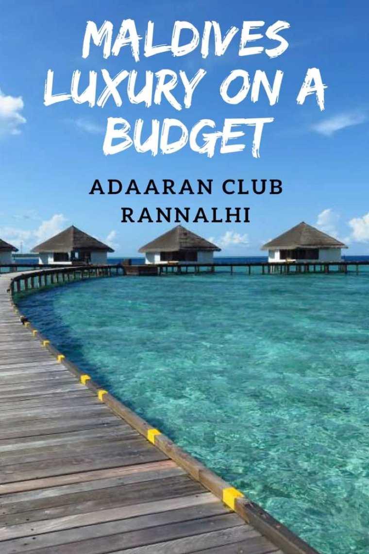 Adaaran Club Rannalhi Maldives Luxury on a Budget. Cheap Resorts in the Maldives