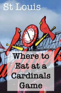 Where to eat at a Cardinals Game