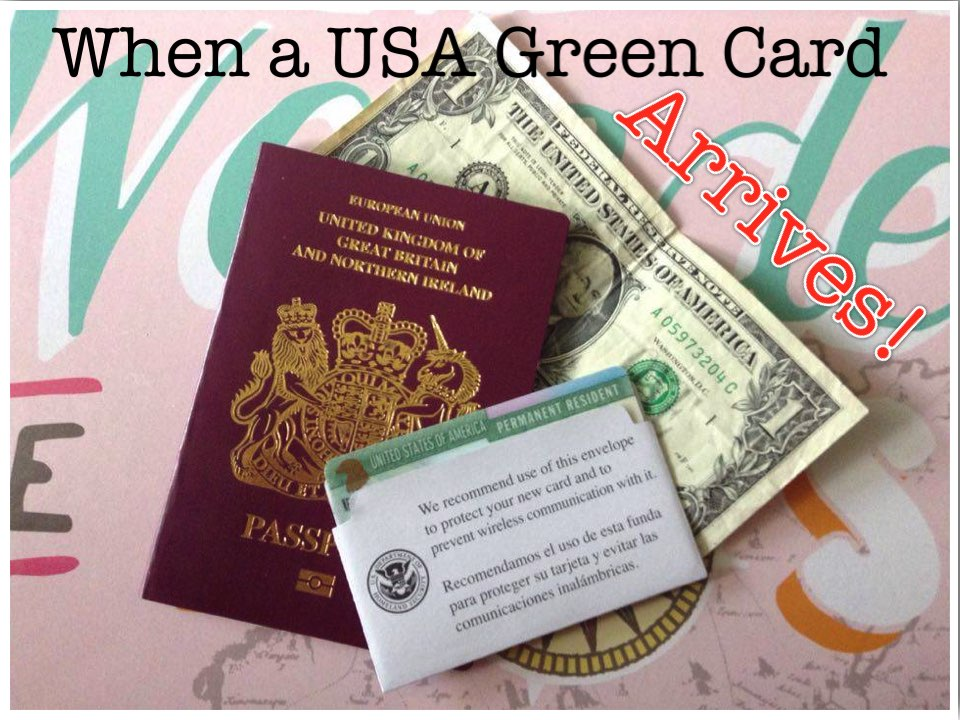 It S Official My Usa Green Card Has Arrived Between