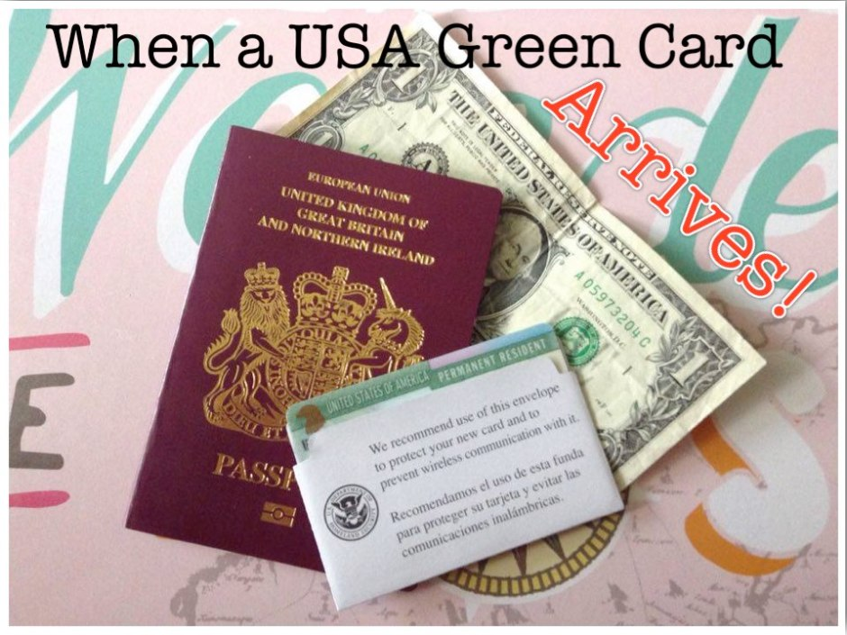 Its Official My Usa Green Card Has Arrived Between England Iowa