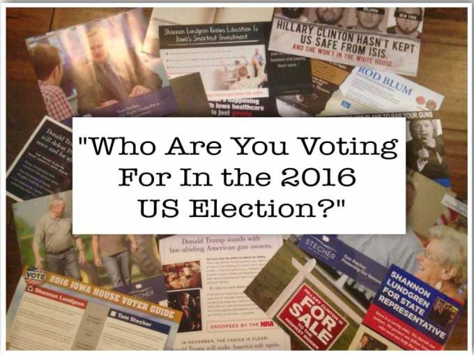 Who are you voting for in the 2016 US election