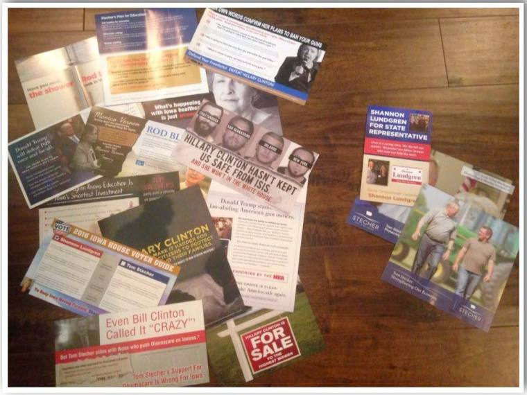 2016 US election flyers