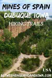 Mines of Spain Dubuque. Awesome hiking trails in East Iowa along the Mississippi River in Iowa USA