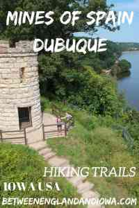Mines of Spain Dubuque Iowa. Check out these awesome hikes along the Mississippi River in East Iowa USA!
