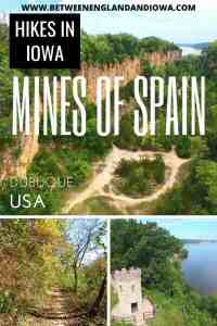 Hiking at the Mines of Spain in Dubuque Iowa USA