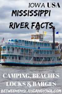 Facts about the Mississippi River. A guide to the Mississippi River in Iowa. Mississippi River camping, beaches and sandbars