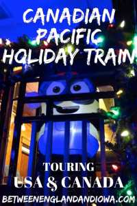 Rocking out to the Canadian Pacific Holiday Train. This Christmas train has 180 stops in the USA and Canada during November and December!