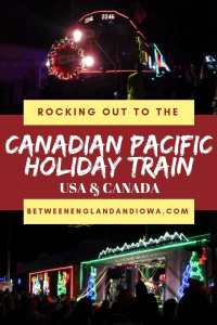 Rocking out to the Canadian Pacific Holiday Train. This Christmas train has over 180 stops across USA and Canada!