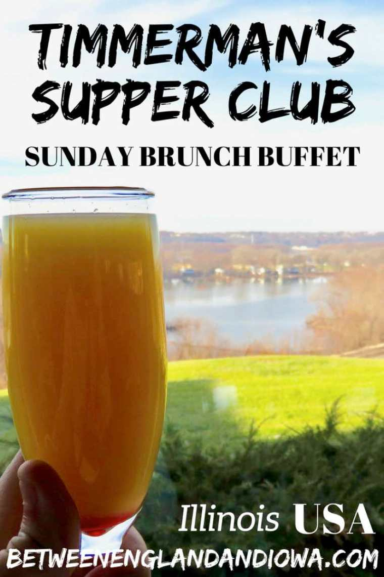 Timmermans Supper Club East Dubuque Illinois. An awesome Sunday brunch buffet in Illinois overlooking the Mississippi River! USA
