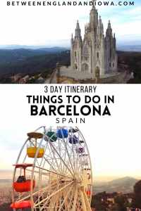 3 Days in Barcelona Spain 72 hour itinerary