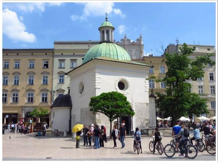 Church of St. Wojciech in Rynek Glowny Krakow Poland