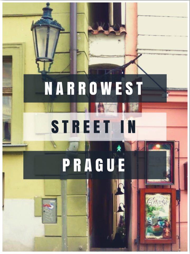 The Narrowest Street In Prague Czech Republic