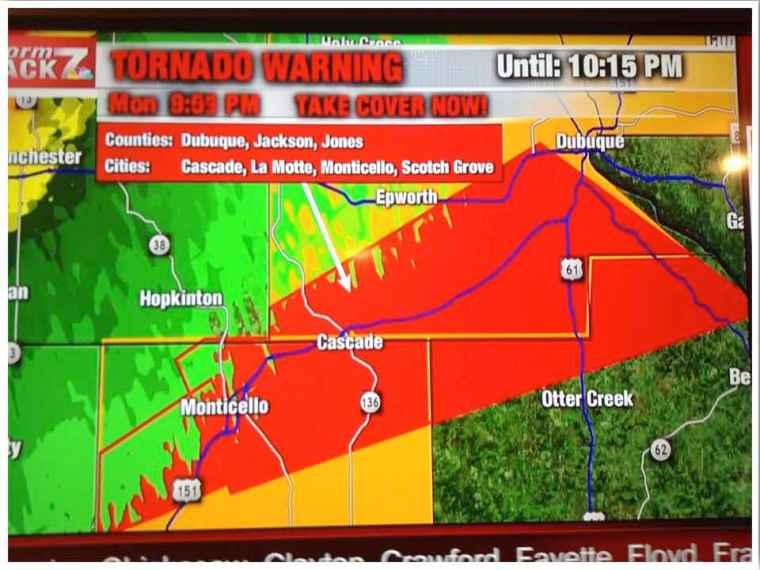 Iowa Tornado Warning