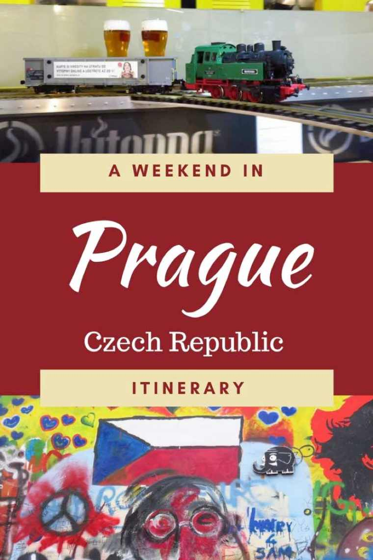 A Weekend in Prague Itinerary. Fun activities in Prague, what to eat in Prague and where to stay in Prague during a weekend city break!