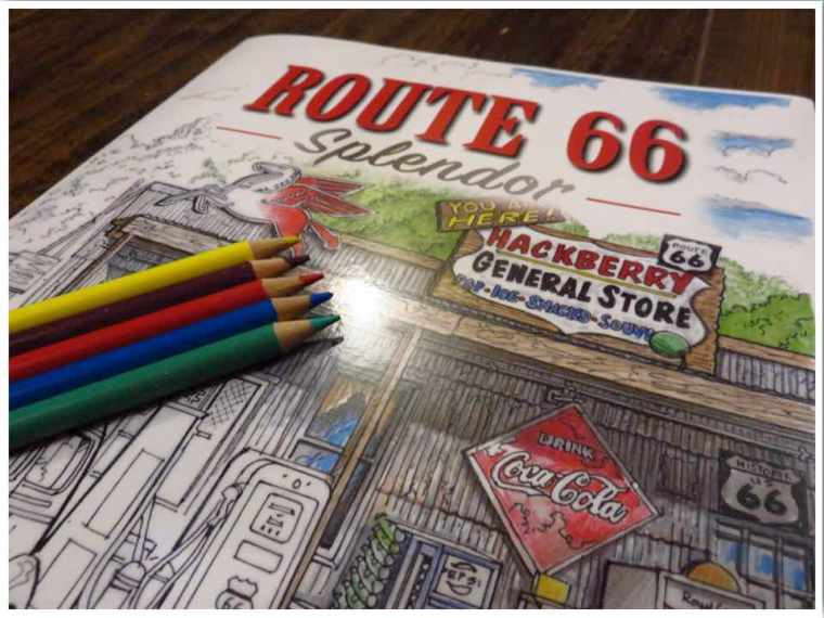 Route 66 Splendor: An Adult Coloring Book