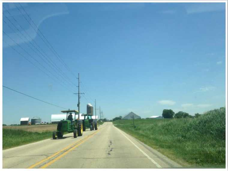 Driving in Iowa USA
