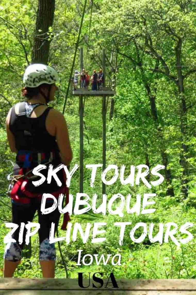 Sky Tours Dubuque Zip Line Tours.  Did you know that you can go zip lining in Iowa?!