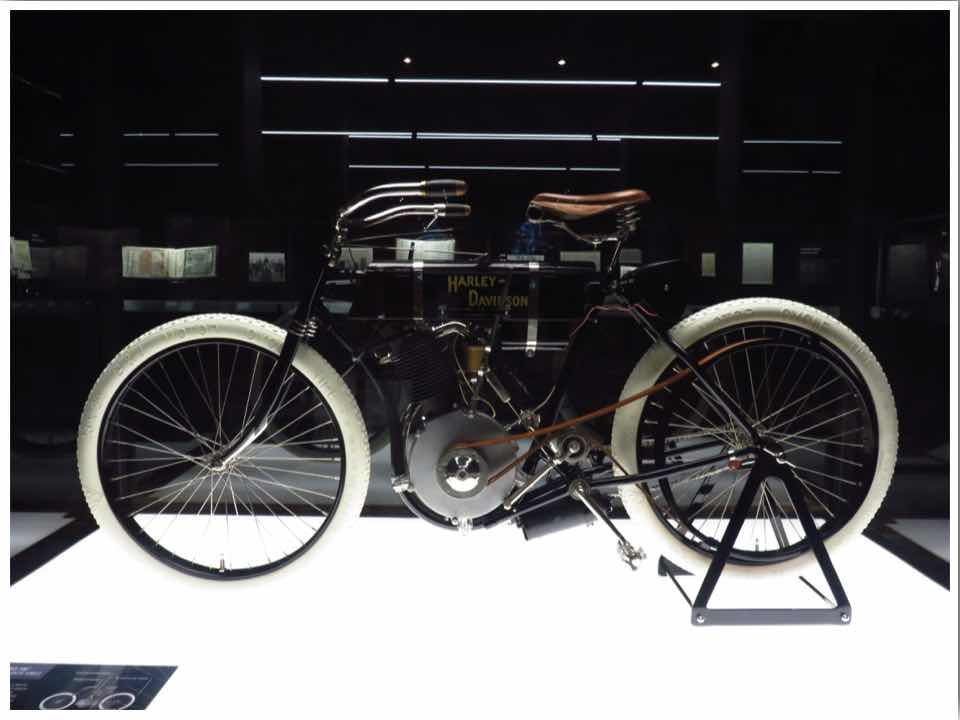 The first Harley Davidson Motorcycle 1903