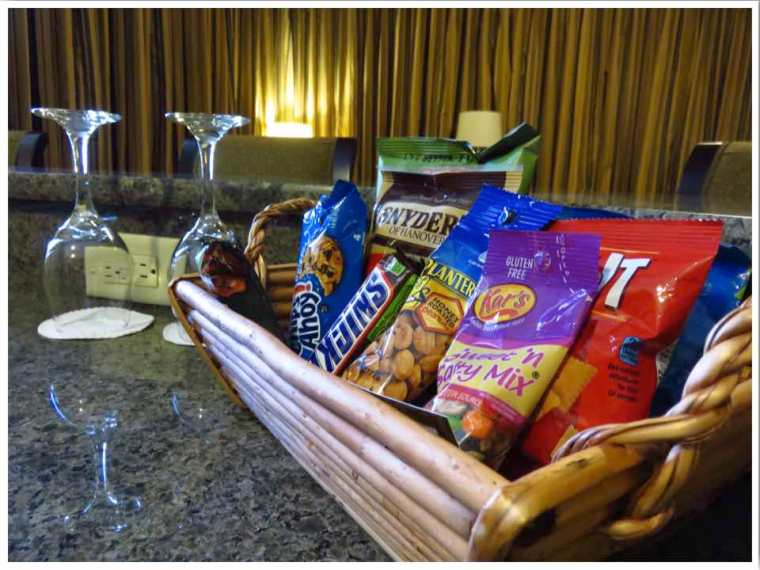 Hotel Julien Dubuque Room Snack Basket