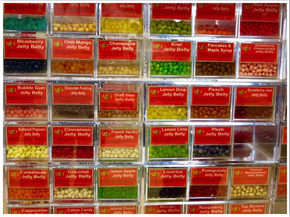 Warehouse product jelly beans
