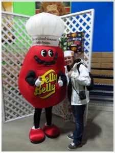Kylie with Mr Jelly Belly