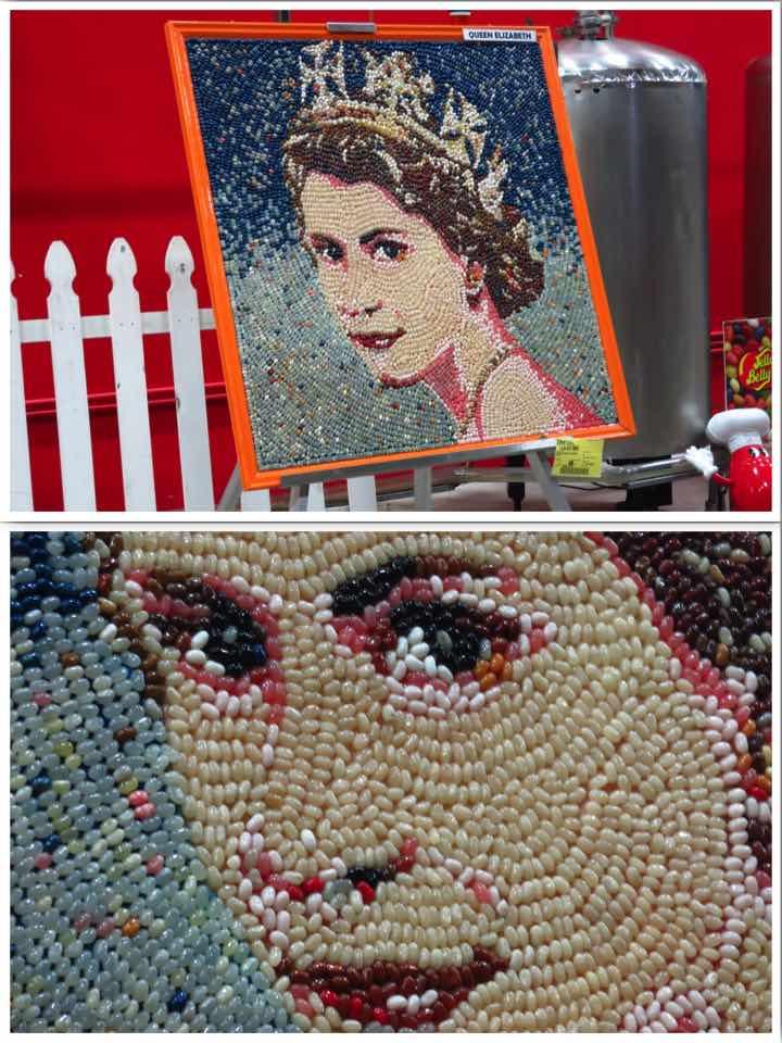 Queen Elizabeth II Jelly Bean Art