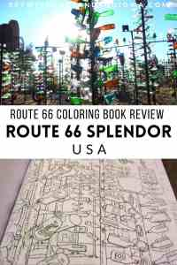 Route 66 Splendor: Route 66 adult colouring book review