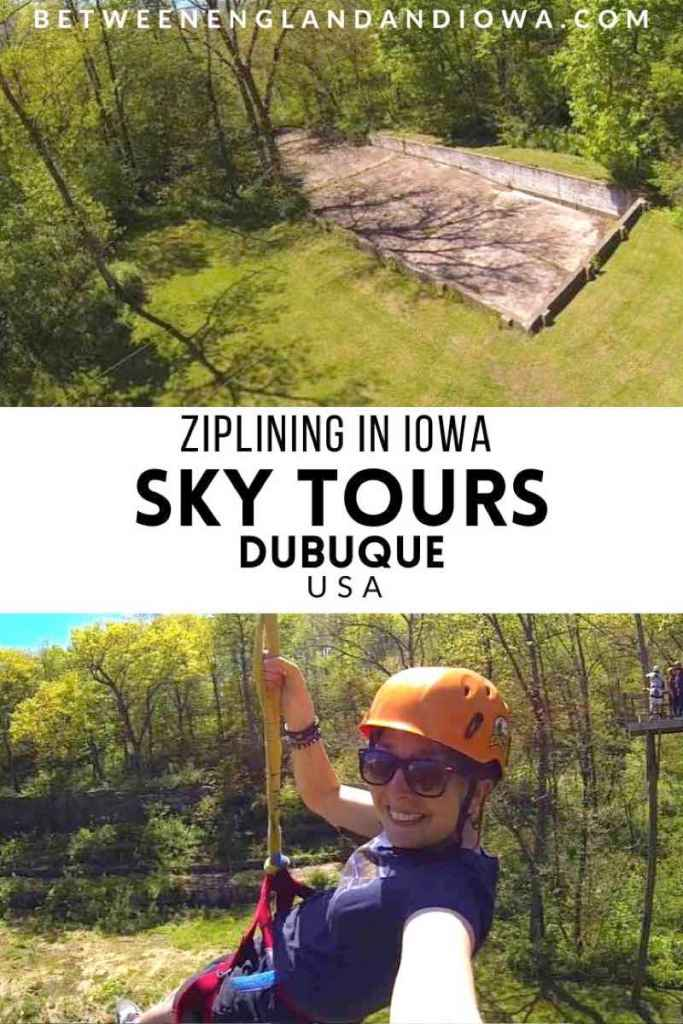 Zipling in Iowa Sky Tours Dubuque USA