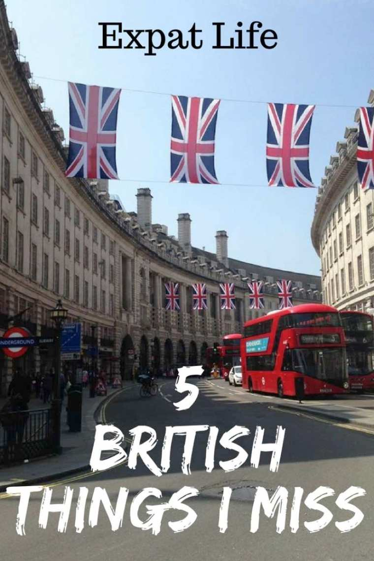 5 British Things I Miss Living In The USA.  Things that Brits take for granted!