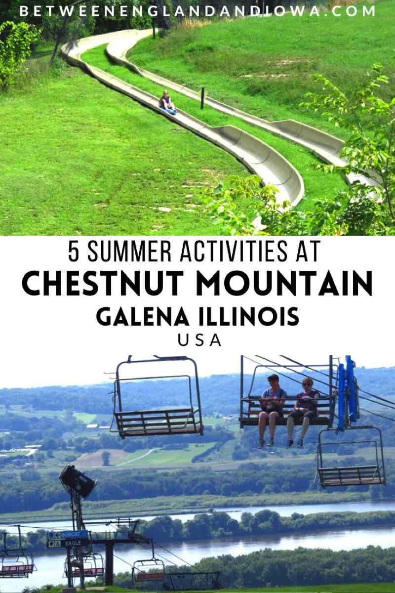 Chestnut Mountain Resort Alpine Slide in Galena Illinois USA