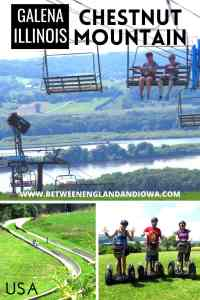 Chestnut Mountain alpine slide and summer things to do in Galena Illinois USA