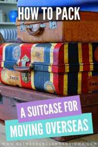 How to pack clothes for moving overseas